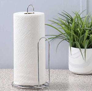 "SALT™ Steel Paper Towel Holder in Silver | Freestanding 6.5""L X 6""W X 13""H | New"