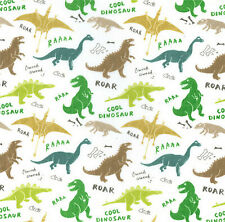Polyester Cotton Fabric - Material - Dinosaur Design - 0031