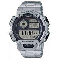 Reloj Digital CASIO AE-1400WHD-1A - Duracion Pila 10 Años - 5 Alarmas Diarias