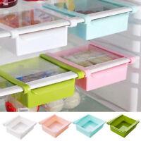 UK Slide Kitchen Fridge Freezer Space Saver Organizer Storage Rack Shelf Holder