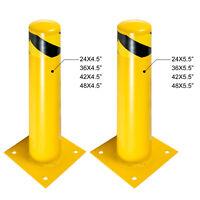 "Safety Bollard Steel Bollard Post 24/36/42/48""H Steel Barrier 4.5/5.5""D"