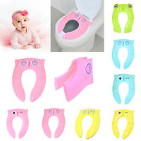 Baby Kids Travel Folding Potty Seat Toddler Portable Toilet Cushion Chair Pad