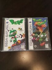 Sega Saturn lot -two games. Bug! & Bug Too!  Complete good copies w/registration