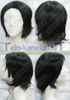 Harry Potter Severus Snape Professor Short Black Cosplay Party Wig Hair