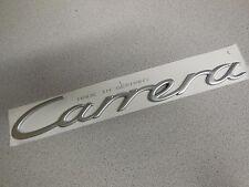 "Porsche 911 Emblem ""Carrera"" ( Matte Chrome ) For Decklid  GENUINE  NEW #N1"