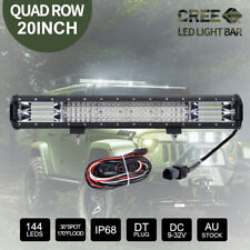 20inch 258000LM CREE LED Light Bar 12V Combo Beam Offroad 4X4 & Wiring Kit