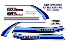 Honda CB250N CB400N Superdream, Super Dream decals, Full Sticker Kit. Blue