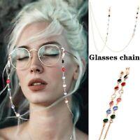78cm Long Reading Glasses Lanyard Strap Holder Eyeglass Neck Cord Metal Chain