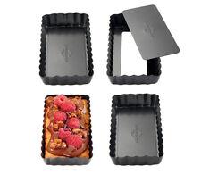 Küchenprofi Tartelettformen 4er Set rechteckige Form aus Metall