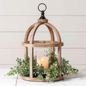 Rustic new large Mango Wood Candle Lantern