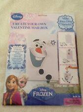 Disney Frozen 32 Valentines Create Your Own Valentine Mailbox Elsa Anna Olaf Nip