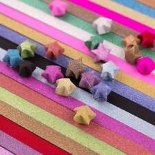 Lucky Star Folding Paper Crafts Origami Material Quilling Paper Decor 10 Packs