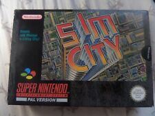 SIM CITY (SNES) Boxed/Complete (Sealed at one end)   for Super NES Nintendo