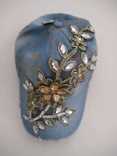 Beautiful Denim Decorated 100% Cotton Cap for Girls NWT