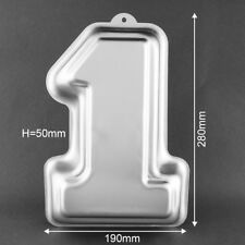 Number One 1 Cake Cupcake Baking Tin Fondant Mould Birthday Party Kitchen Tool