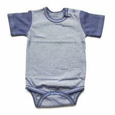 6-9 Months BLUE BABY BOY BODYSUIT BABYGROW  SHORT SLEEVED 100% SOFT COTTON