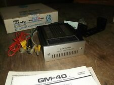 NEW Pioneer GM-40 Component Car Stereo NOS High Power Main Amplifier *FREE SHIP*