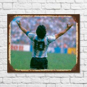 Diego Maradona tin sign, Maradona gift, Diego Maradona portret, Maradona plaque