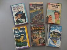Vintage Paperbacks: Adventure H.M.S. Bounty Trilogy African Queen Lost Horizon