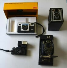 (8) Vintage Antique Camera Lot : Kodak Ansco Pentax Sears Polaroid Brownie