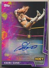 KAIRI SANE #38 2018 Topps WWE Women's Division NXT PURPLE AUTO 66/99 DIVA