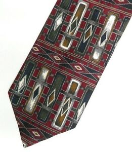 Burgundy Black Abstract MISSONI Silk Tie