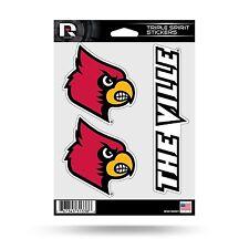 Louisville Cardinals Triple Sticker Multi Decal Sheet Auto Home University of