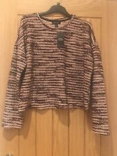 Ladies New look C&S Boucle Metallic Top size Large.