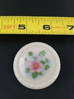 Vintage AVON Flowers Pink Blue Spring Style pin pinback button *QQ3