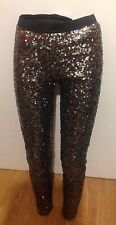 FRENCH CONNECTION SEQUIN TUXEDO, LINED LEGGINGS.   SIZE SMALL