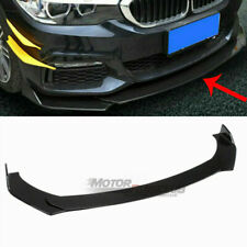 Gloss Black Universal Front Bumper Lip Chin Spoiler Splitter For Honda BMW Audi