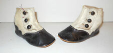 Great Antique Victorian Pair of Baby's High Button Shoes