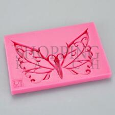 Vintage Butterfly Lace Impression Silicone Mould Cupcake Topper Cake Mold Decora