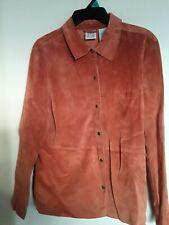 Field Gear Women Large Genuine Leather Shirt Jacket