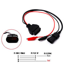 3 Pin to 16 Pin OBD2 Adapter Connector  Diagnostic Cable for Fiat Alfa Lancia
