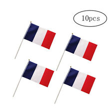 10Pcs France Flag Miniature Office Desk & Little Hand Waving Table Flags 14*21CM