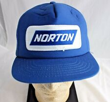 Norton Norscot Headwear Baseball Hat Snapback Blue Vintage Abrasives Autobody