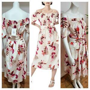 BNWT WITCHERY Midi Dress [10 12 S M] women, | Summer Floral Dress | RRP$169.95