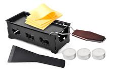 US  Non-Stick Partyclette To-Go Oak Mini Tea Light Raclette Set European