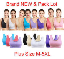 Pack Lot Size M-5XL Women's Bra Candy Color Casual Underwear GYM Sports Bra