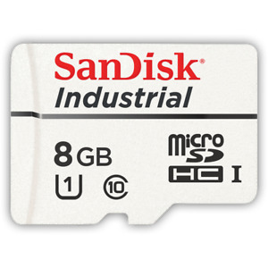 SanDisk 8GB Industrial MLC Grade Micro SD SDHC UHS-I Class 10 Memory Card Bulk