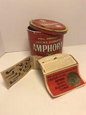 Douwe Egberts Amphora Pipe Tobacco Tin With Promotional Ephemera 70s 80s ??