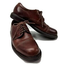 Johnston Murphy Brown Mens Size 8 Oxford Cap Toe 20-2028 Made In Italy Leather