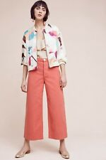 Anthropologie Elevenses Cream Lightweight Geo Bomber Jacket $138