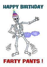 Birthday card Humorous Funny 16th 18th 21st 30th 40th 50th 60th 70th 80th Farty