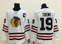 Jonathan Toews Chicago Blackhawks #19 stitched jersey white men's player game