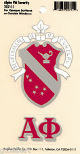 Alpha Phi Sorority Crest & Letter Vinyl Decal Combo For Indoor/Outdoor Use NEW