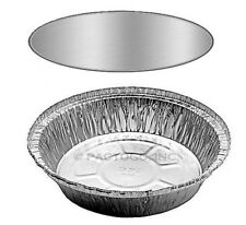 """7"""" Round Aluminum Foil Take-Out Pan w/Board Lid -Disposable Food Container 500PK"""