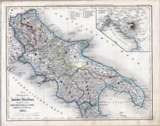 Italia-Italien-Italy - Karte-Map um 1840