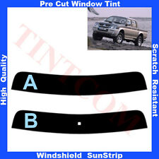 Pre Cut Window Tint Sunstrip for Mitsubishi L-200 4 Doors 1993-2006 Any Shade